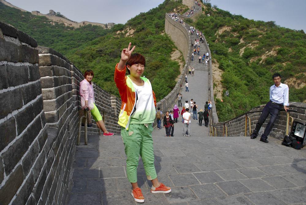 """12-Muralla de Badaling, Pekín. """"La muerte no me da miedo porque imagino que después iré a un paraíso lleno de flores... La muralla es como un dragón cada vez más fuerte"""""""